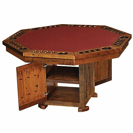 Barnwood Poker Table Real High Quality Wood Western Lodge Rustic