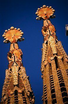 La Sagrada Familia. Antoni Gaudi. Barcelona, Spain. Gaudi started work on the project in 1883. Building still under construction. (Est. completion 2026).