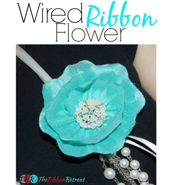 Tutorial: Easy wired ribbon flower