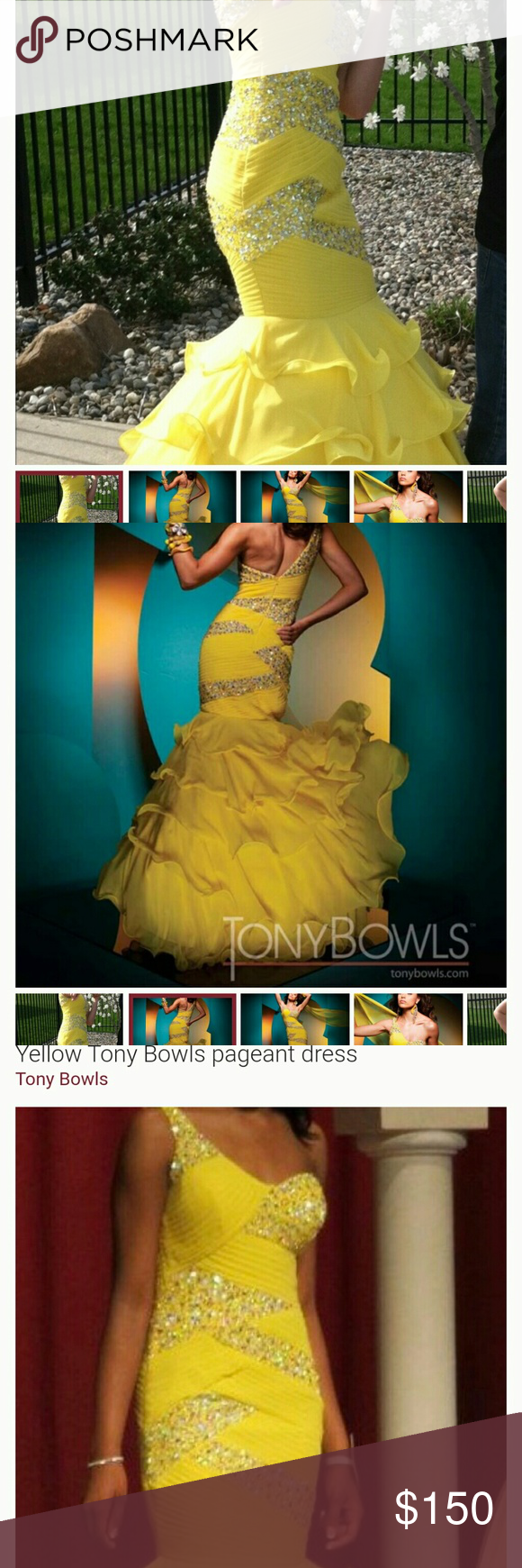 Formal yellow gown yellow gown tony bowls and formal