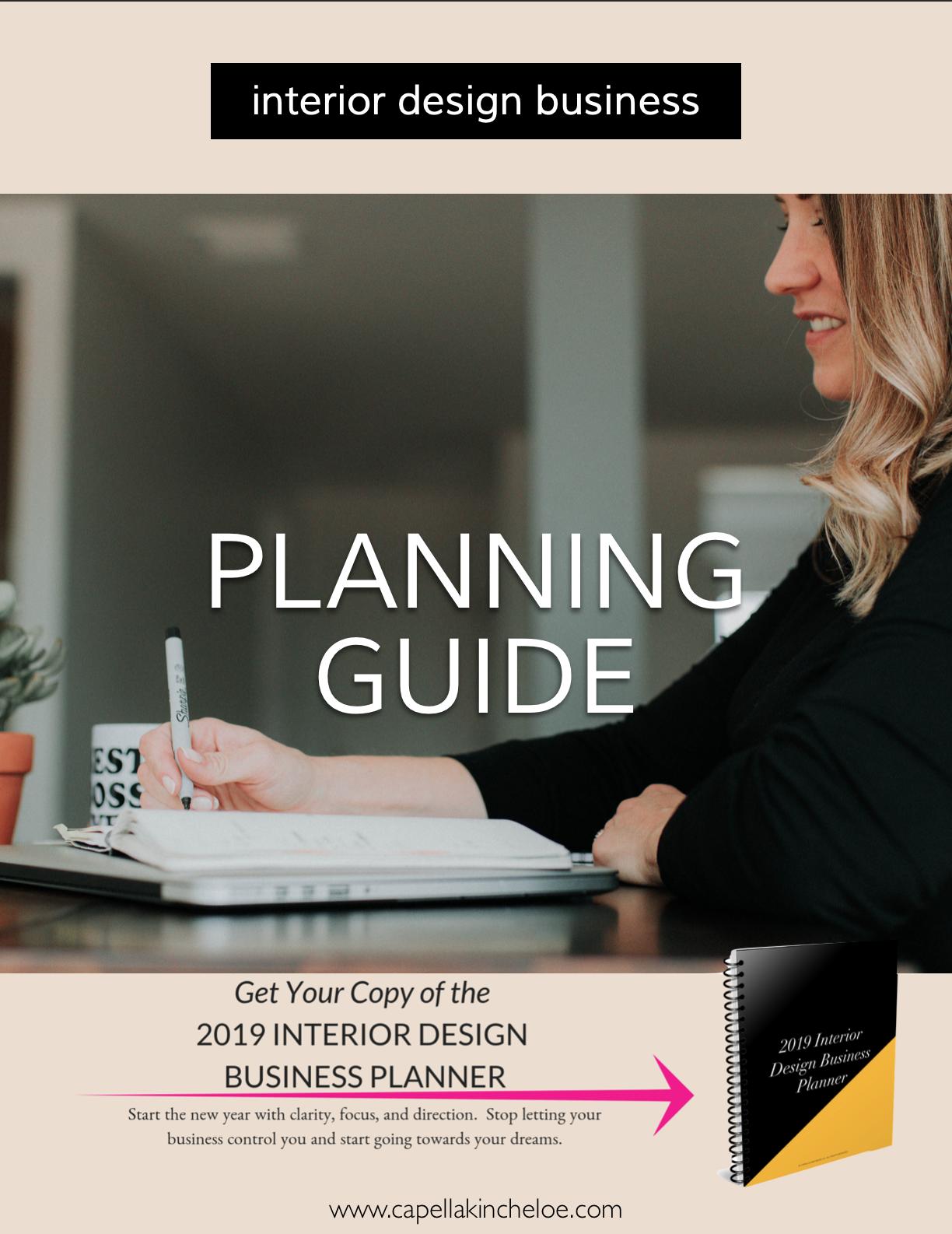 2019 Interior Design Business Planner Interior Design Business