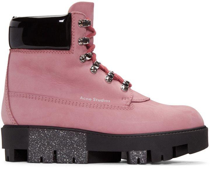 488aafef32e Acne Studios Pink Telde Hiking Boots | Women Athletic Shoes