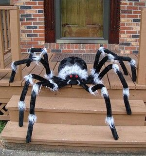 Huge Spider Prop 7 5 Feet Halloween Spider Decorations Halloween Outdoor Decorations Diy Halloween Spider