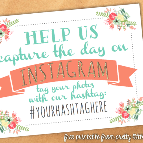 Instagram Wedding Hashtag Printable Sign From Offbeatbride