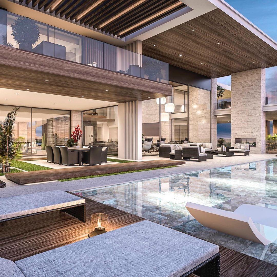 Casa Con Piscina De Lujo Club Privado Caballeros Hermosas Casas Modernas Piscinas De Lujo Diseno Interiores De Lujo