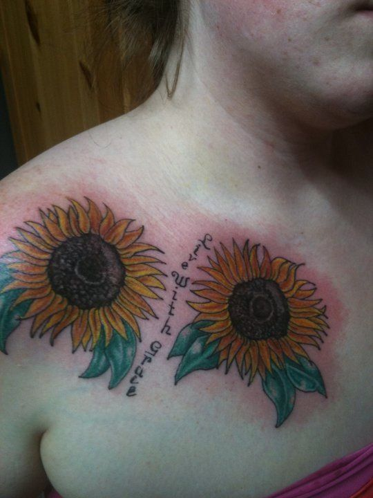 Live With Grace... Sunflower tattoos