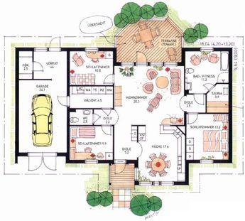 grundriss lappland 3 bungalow. Black Bedroom Furniture Sets. Home Design Ideas