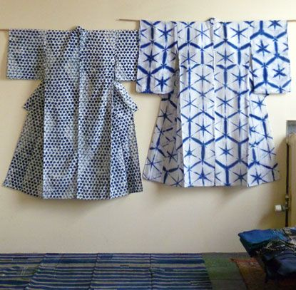 Early 20th century. Yukatas (summer garment). Shibori.