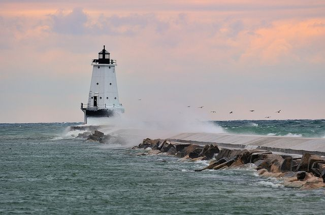 Ludington North Breakwater Lighthouse - Ludington,Michigan by Michigan Nut, via Flickr