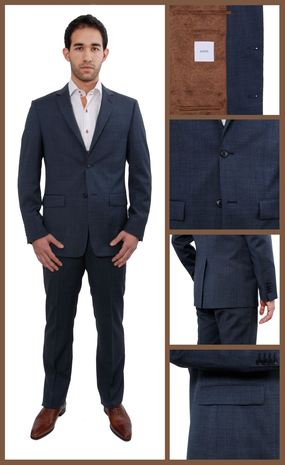 Costume Homme Bleu Navy Clint Chemise Homme Chaussures B Pinterest Navy Costumes And