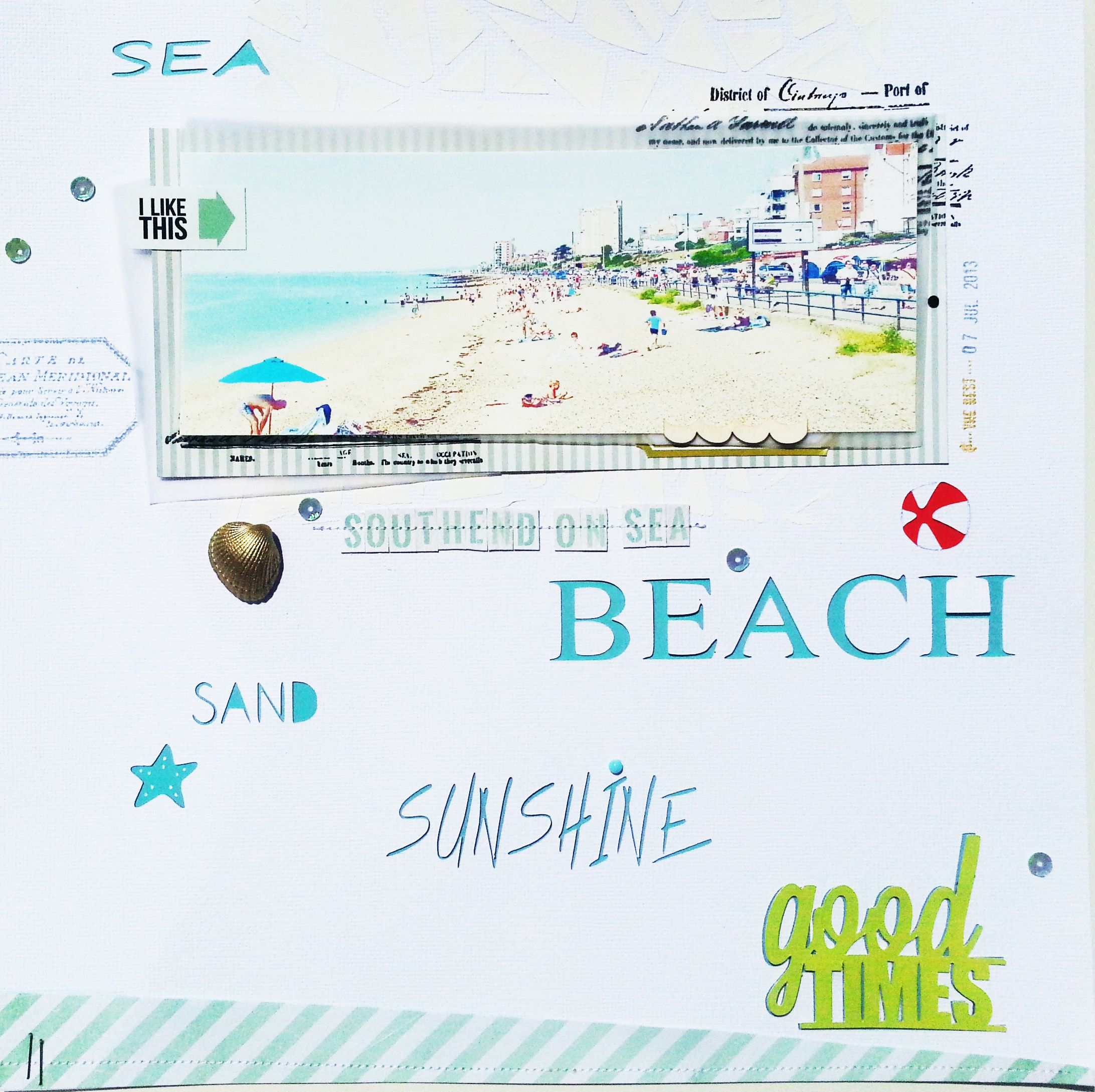 Scrapbook ideas words - Southend On Sea Scrapbook Com Die Cut Words On Background Cardstock And Back