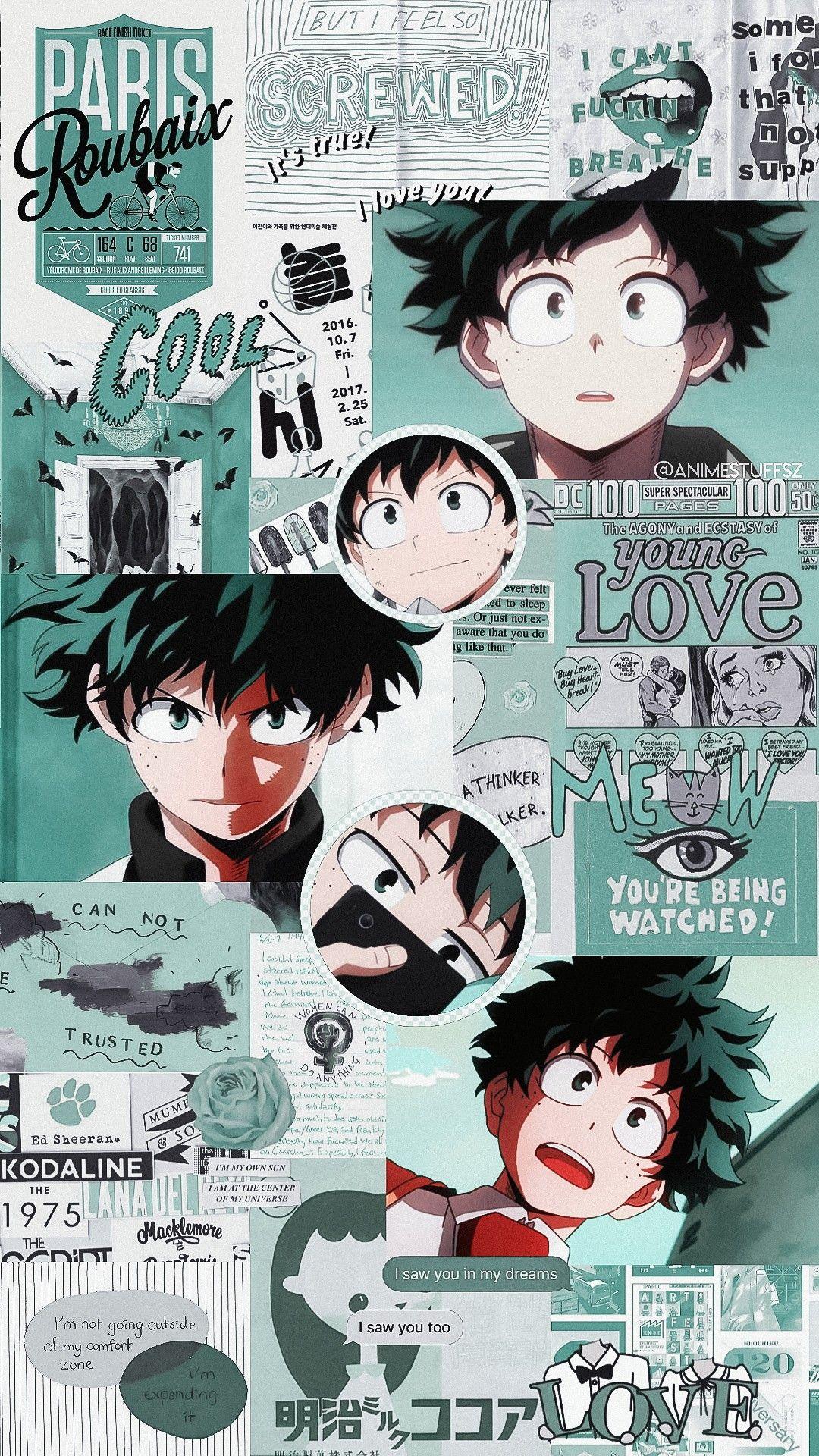 Izuku Midoriya Hero wallpaper, Anime wallpaper iphone