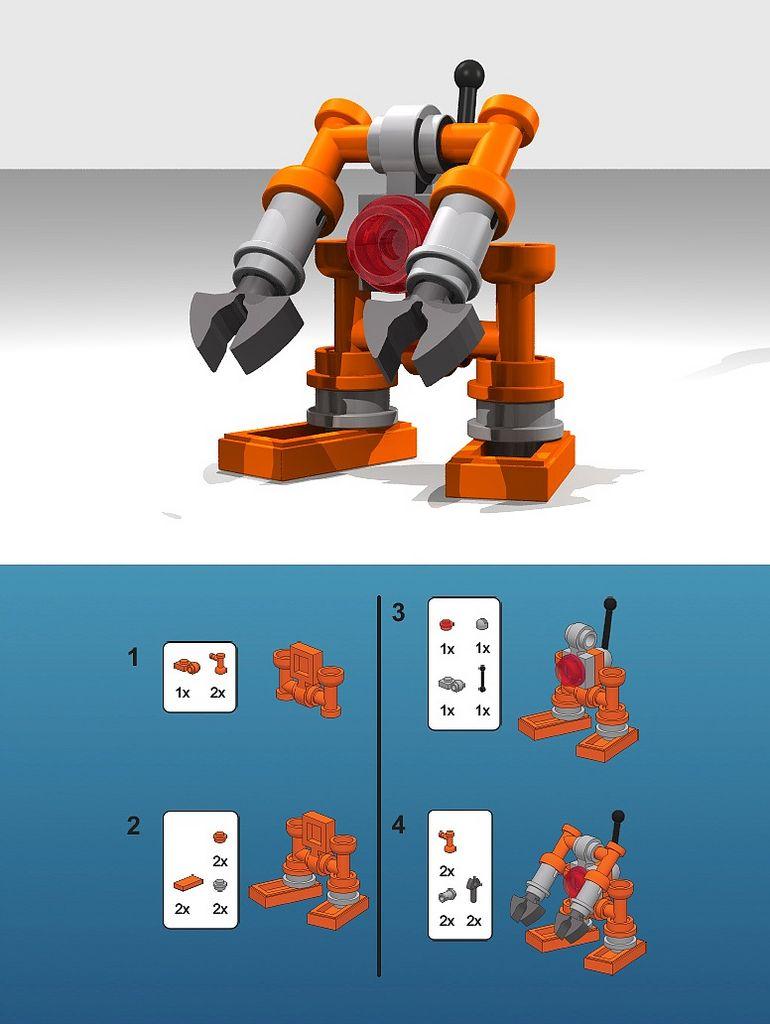 Lego Mini Robots Instructions Google Search Lego Pinterest