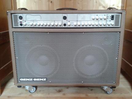 Absolute Rarität. Ein wahres Soundmonster aus 2006…u.a. schwörten die Eagles sehr lange auf dieses...,GENZ BENZ SHENANDOAH Stereo Delux 200 Acoustic-Amplifier in Bayern - Ebersberg