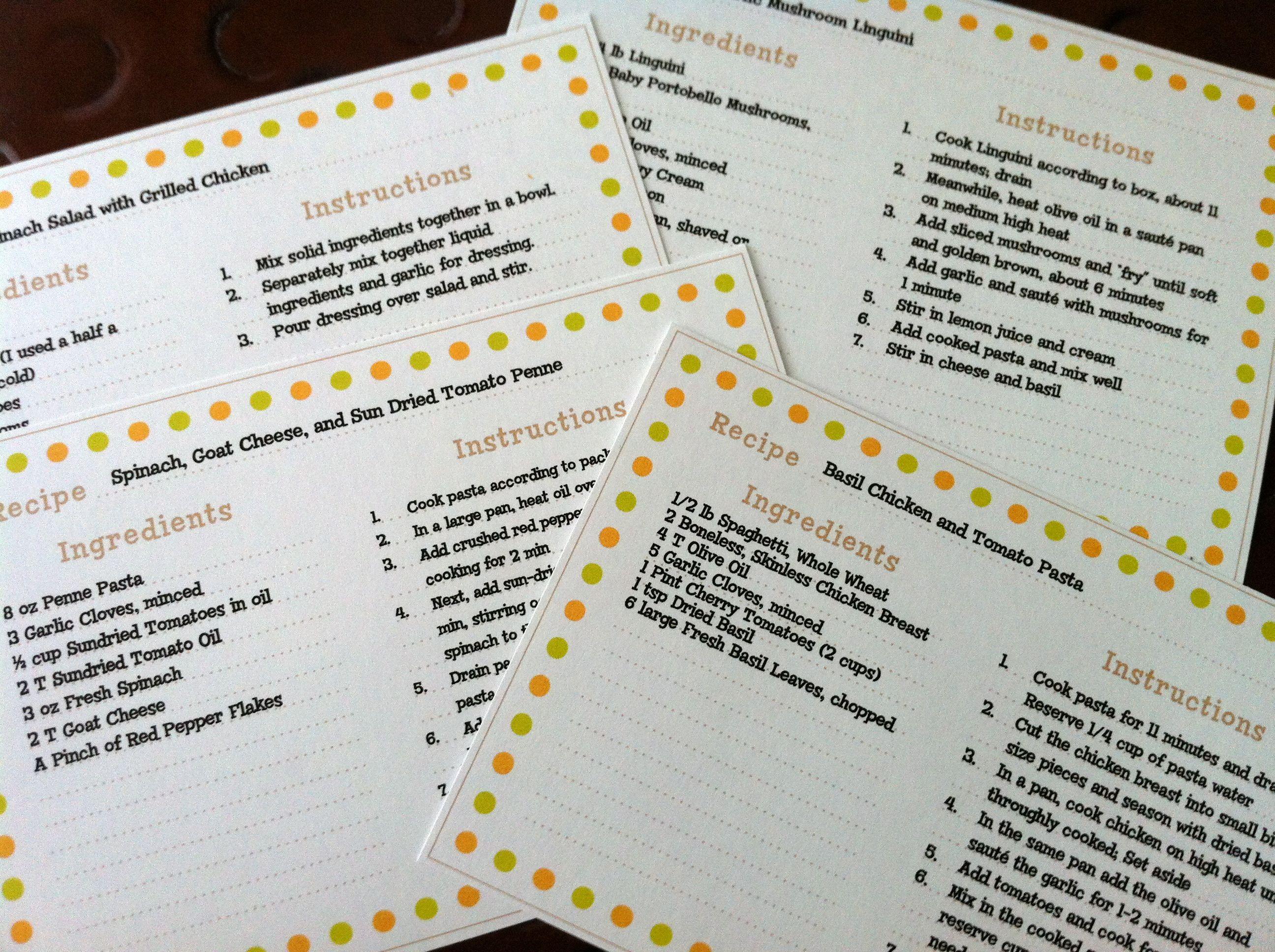 Recipe Cards | Martha stewart recipes, Recipe box and Martha stewart
