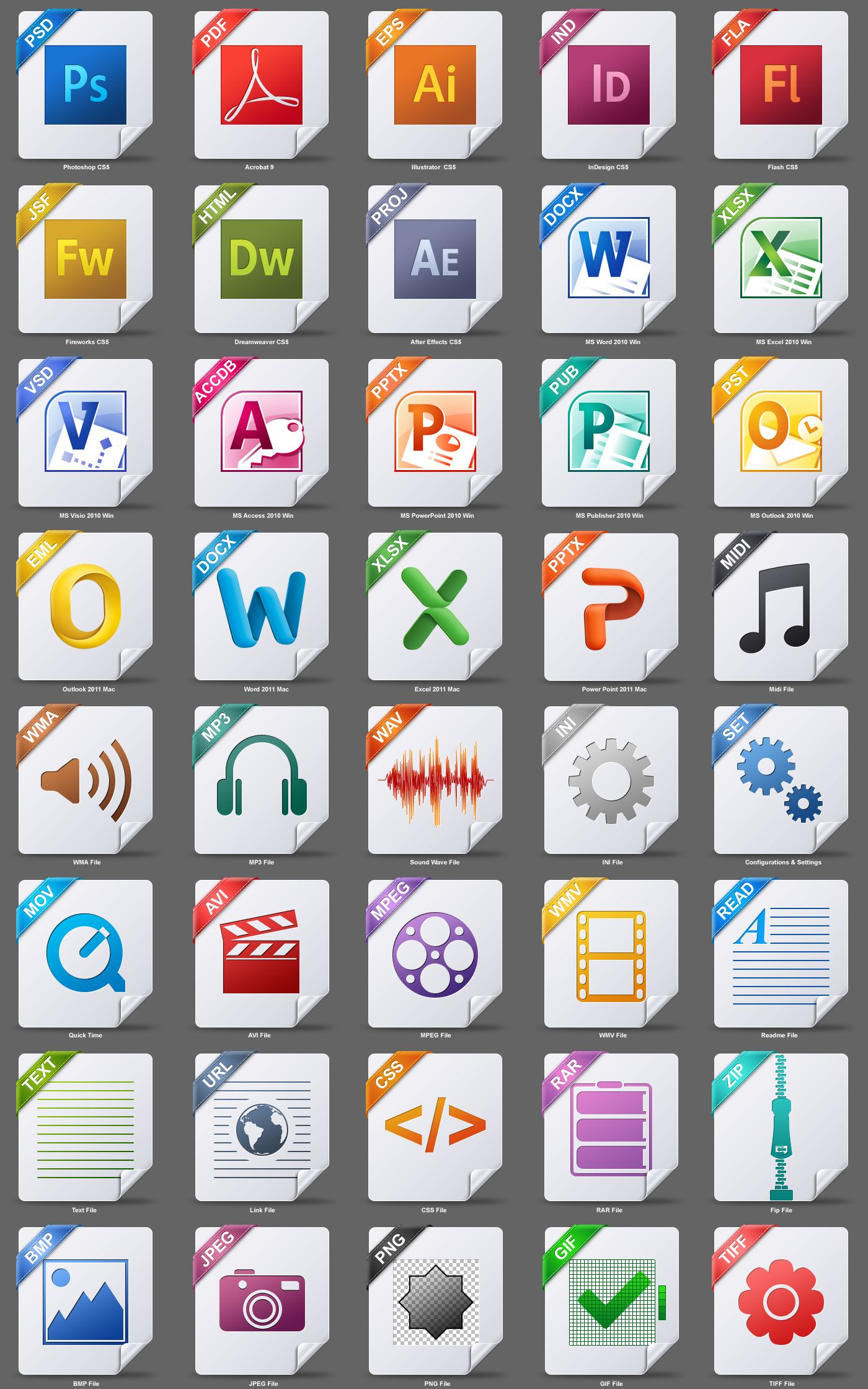 File Type Icons Freebies Pinterest