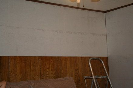 Wall Paper Lining To Cover Wood Paneling Genius Fixing Things