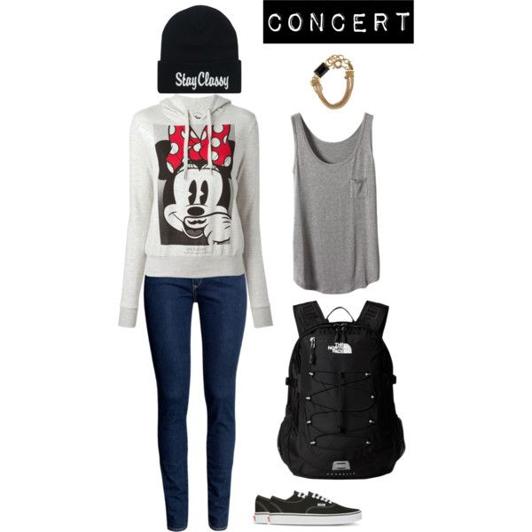 Concert by snsd-kimmyyy on Polyvore featuring polyvore fashion style ElevenParis H&M The North Face Vans