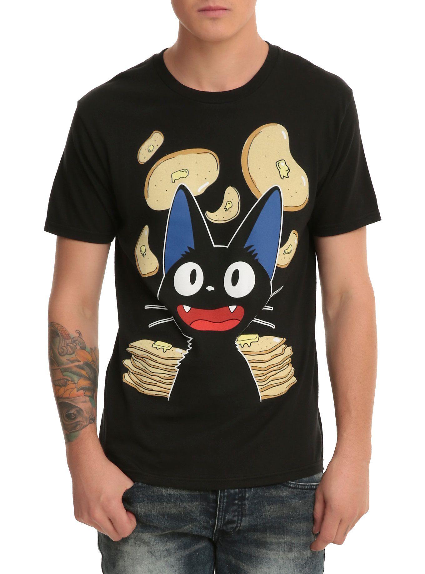 cd7faa82a68 Studio Ghibli Kiki s Delivery Service Jiji Pancakes T-Shirt