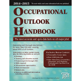 """The Occupational Outlook Handbook is the most widely respected and used career reference available—and only JIST Publishing's version includes useful bonus content, including a Personality-Career Quiz and a new """"Best OOH Jobs"""" list."""