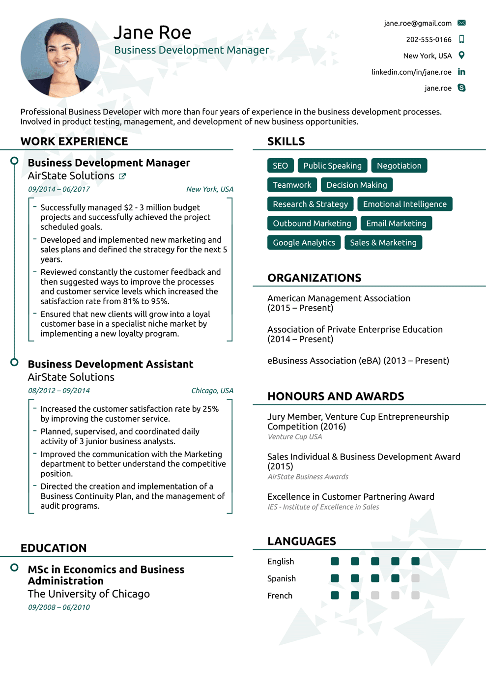 Modern Resume Template Sample resume format, Online