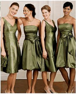 dark sage bridesmaid dresses