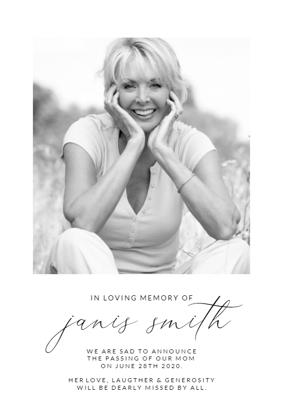 Polaroid Memorial Card Template Free Greetings Island Memorial Cards Card Templates Free Memorial Cards For Funeral