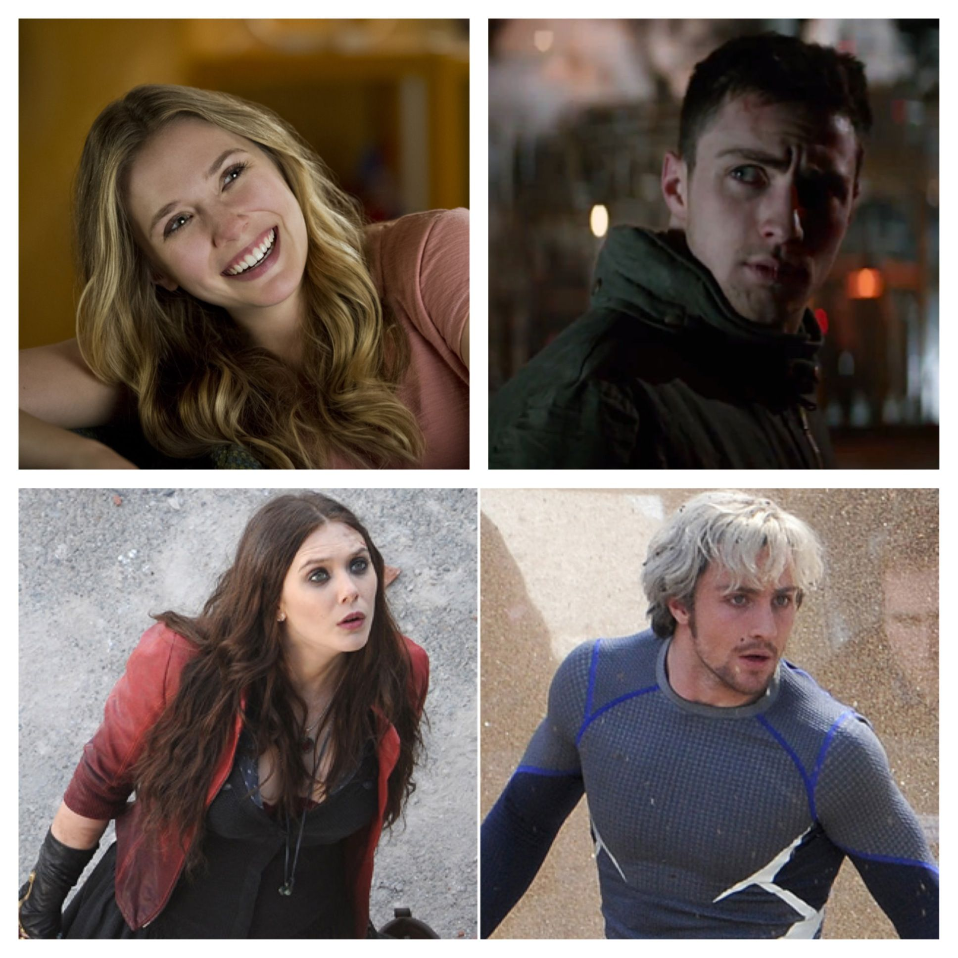 Top Row Elizabeth Olsen Aaron Taylor Johnson In Godzilla