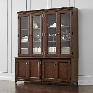 Harrison 4-pc Cherry Modular Wall Unit/Glass Doors 72\