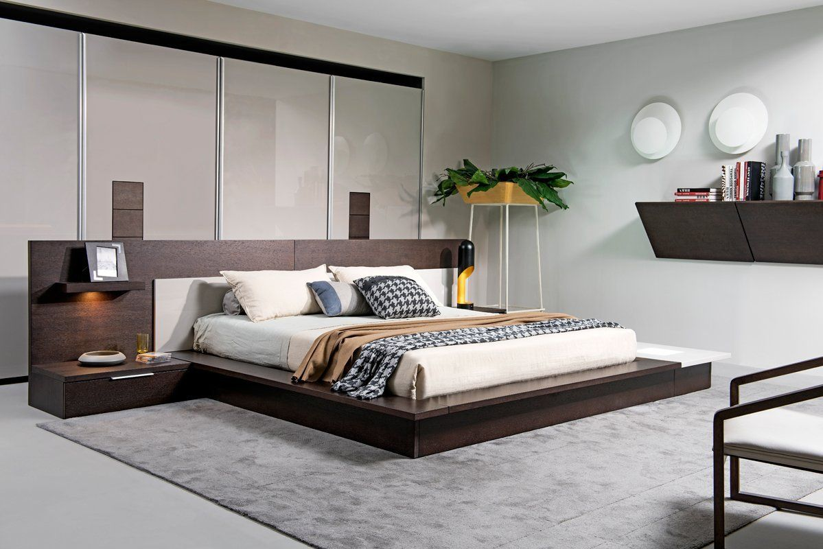 Modrest Torino Contemporary Platform Bed W S Contemporary Platform Bed Platform Bedroom Sets Contemporary Bedroom Furniture