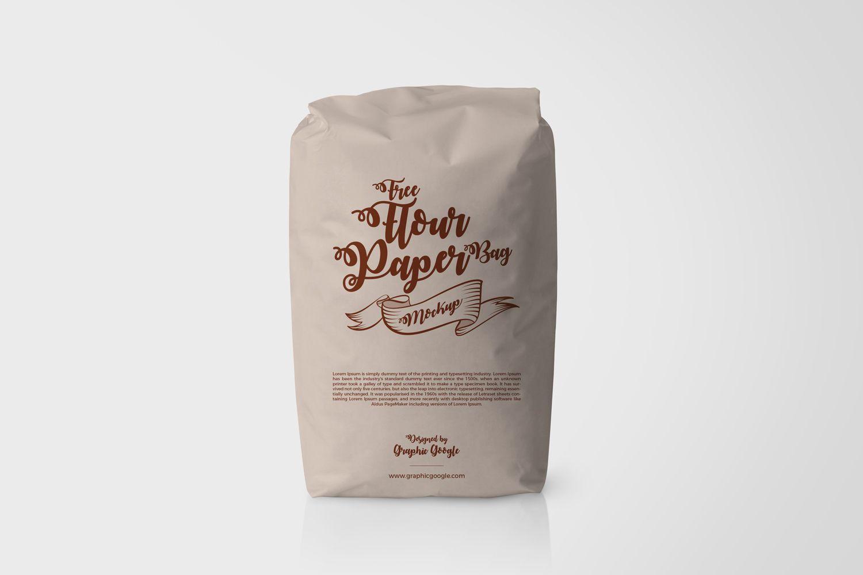 Download Free Flour Paper Bag Mockup Packaging Mockup Bag Mockup Paper Bag