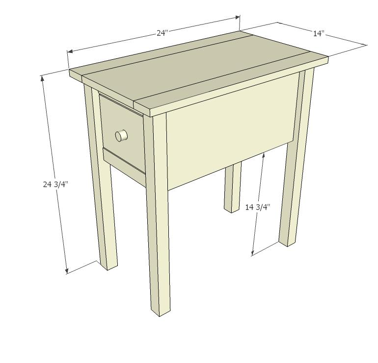 Build A Narrow Cottage End Tables