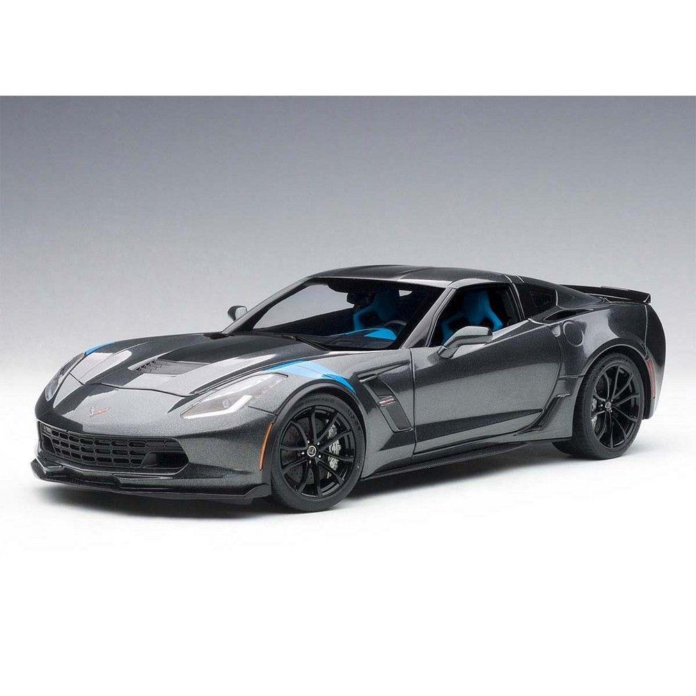 2017 Chevrolet Corvette C7 Grand Sport Grey Metallic W Black Stripe Blue Fender Hash Marks 1 18 Model Car By Autoart In 2021 Chevrolet Corvette C7 Chevrolet Corvette Sports Cars Luxury