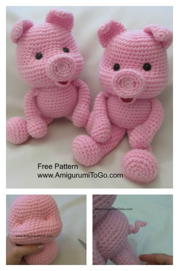 crochet amigurumi pig free patterns schweinchen. Black Bedroom Furniture Sets. Home Design Ideas