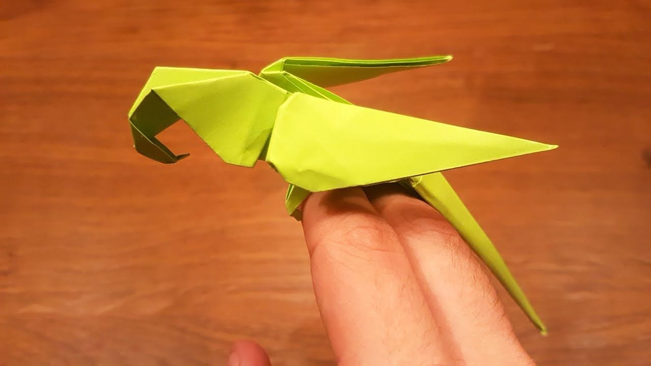 Tutorial) How to make an Origami Phoenix || make origami at home ... | 720x1280
