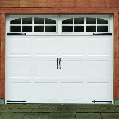 Crown Bolt Black Traditional Decorative Garage Hardware Kit 10011 At The Home Depot Garage Doors Garage Door Hardware Garage Door Windows