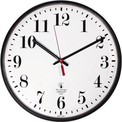 """Chicago Lighthouse Radio Controlled 12.75"""" Wall Clock"""