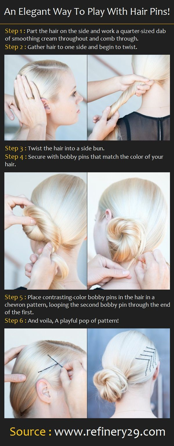 Elegant Way To Play With Hair Pins | Beauty Tutorials