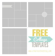 Free Photoshop Collage And Storyboard Templates  Collage