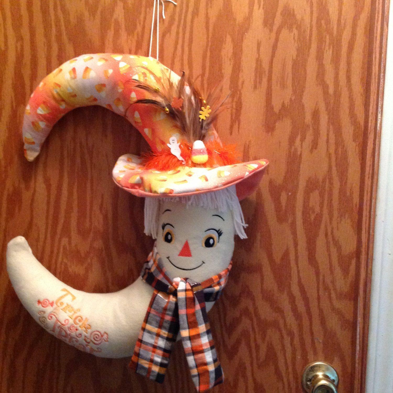 Candy Corn Wreath by cutecraftycreations1 on Etsy Candy