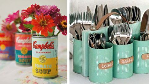 35 Creative DIY Ideas With Tin Cans | DIY Joy Projects and Crafts Ideas #tincans