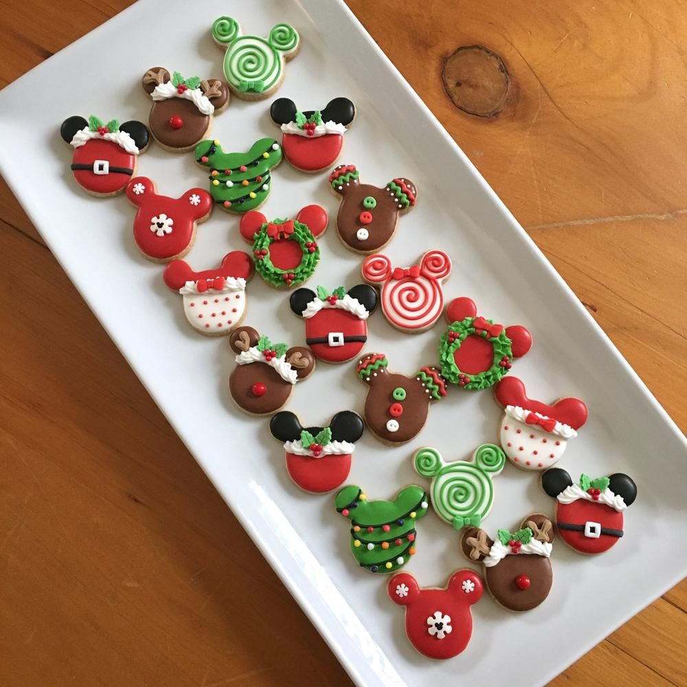 Mickey Mouse Mini Christmas Cookies Christmas Winter Cookies In