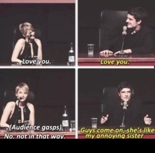How precious. Josh and Jen.
