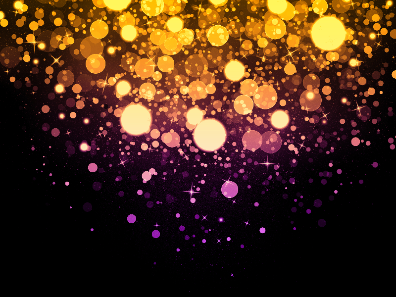 Magic Light Background With Glitter Sparkle Effects Glitter