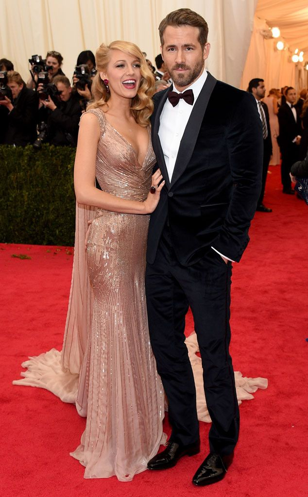 Blake Lively & Ryan Reynolds from 2014 Met Gala Arrivals
