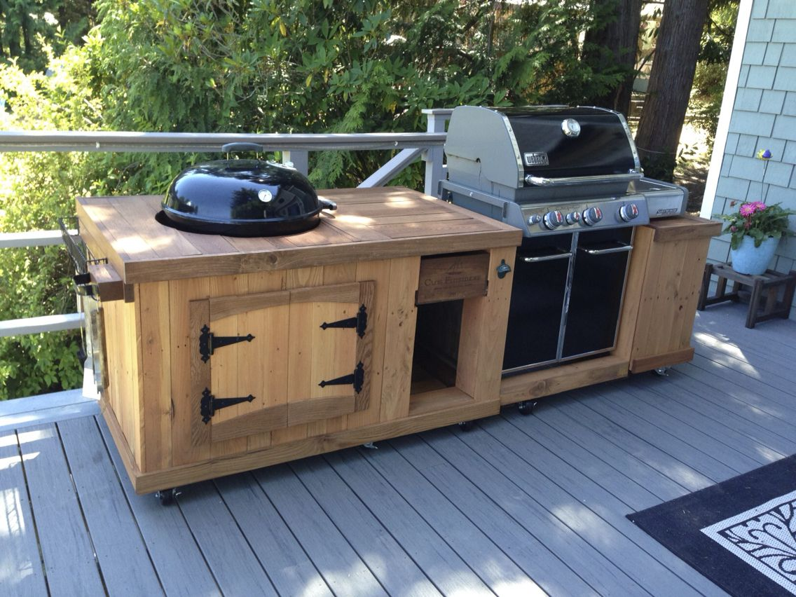 Bbq Outdoor Küche Bbq Station From Pallet Boards Completed Woodworking