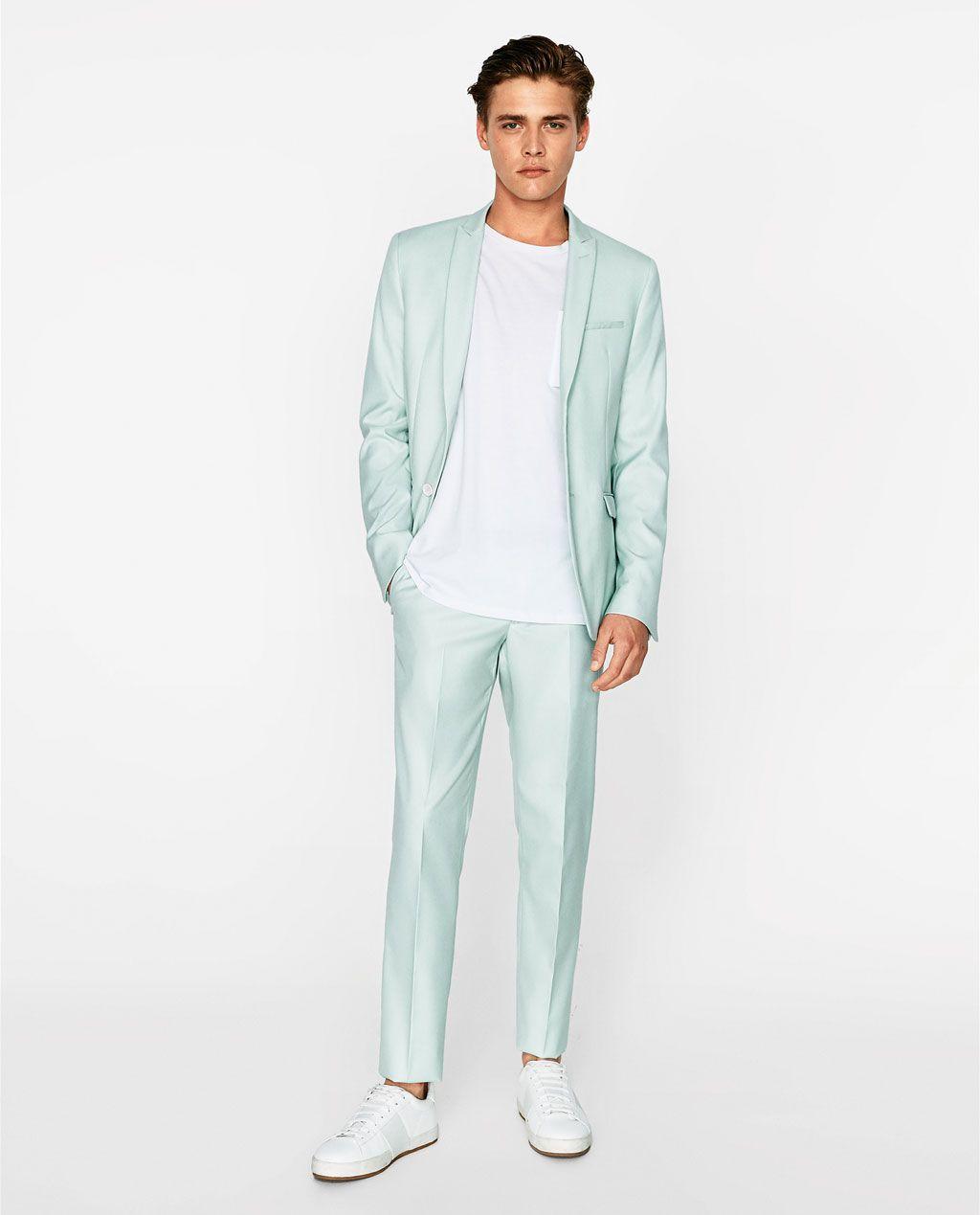 zara pantalon traje hombre