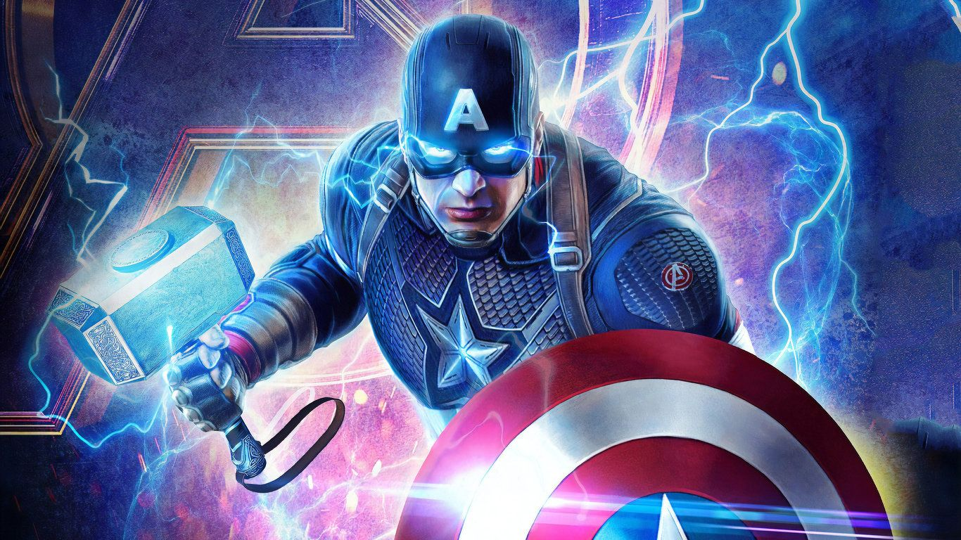 2019 Captain America Mjolnir Avengers Endgame 4k Available For Your Desktop Tablet Iphone And Android Device Hdpi Avengers Captain America Wallpaper Iphone