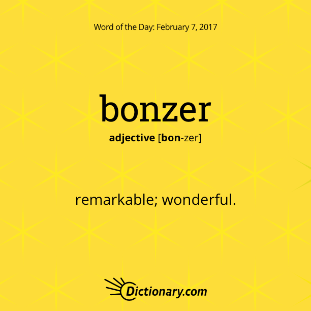 Try Using Today S Word Of The Day In A Sentence A Bonzer Sentence