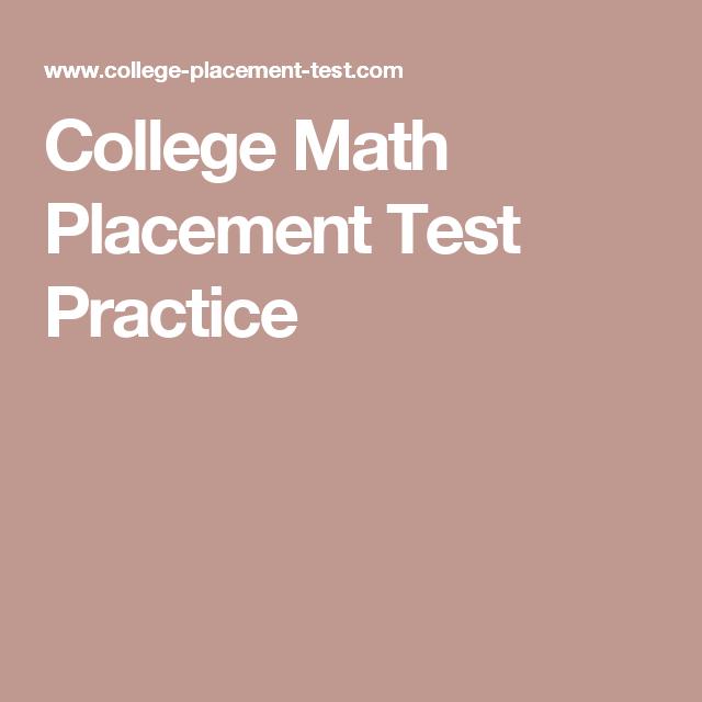 Pin On Math Sample Exams Study Materials